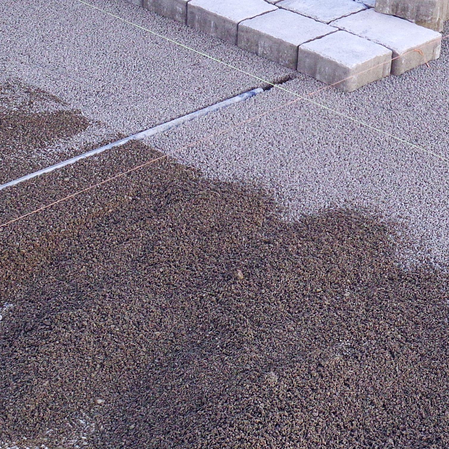 Häufig Splitt Basalt oder Kalk 2-5mm Pflastersplitt (21t) + Rüttelplatte AY73